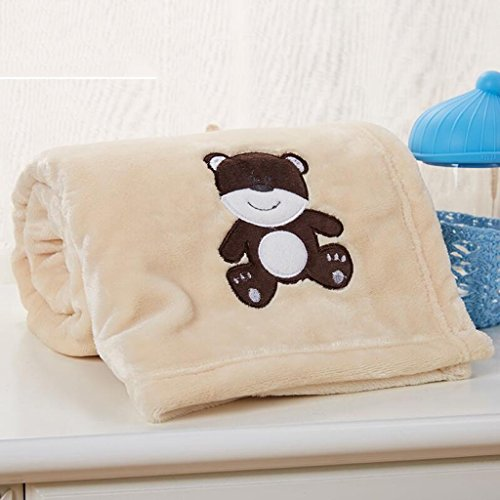 YAOHAOHAO Milch Gelb tragen Muster babydecke Decke Polyester Material Winter Kindergarten Konzipiert für Baby (100*150cm)