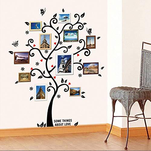 Wandaufkleber schwarz speicher baum schmetterling große wandaufkleber wohnkultur wohnzimmer diy kunst wandtattoo abnehmbare tapete (Minnie Speicher)