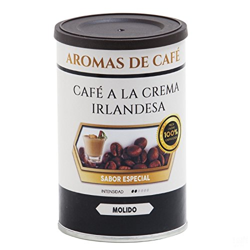 Aromas de Café - Café Tostado de Crema Irlandesa 100% Arábica Molido/Café Molido Tostado Sabor Crema Irlandesa Intensidad Suave e Intenso, 100 gr