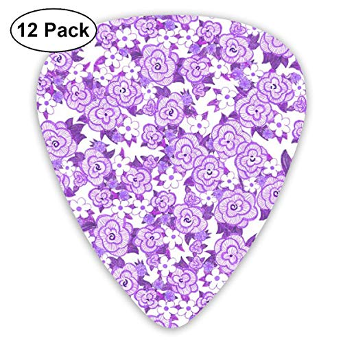 ay Purple_911 Classic Celluloid Picks, 12-Pack, For Electric Guitar, Acoustic Guitar, Mandolin, And Bass ()