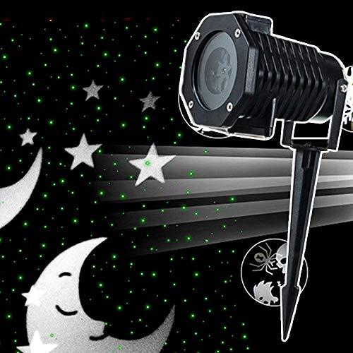 10 Wechselbaren Musters YUNRUX Schneefall Animation Projektionslampe Außen Wasserdicht Weihnachtsbeleuchtung Innen Dekoration Halloween Beleuchtung 6W ()