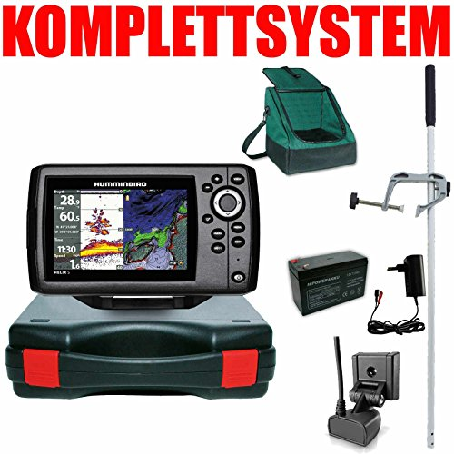 Humminbird Echolot GPS Portabel Master Edition Plus - Helix 5 Chirp GPS G2 Humminbird Kabel
