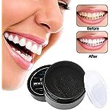 Pupow Sbiancante Denti,Teeth Whitening Powder,Polvere Carbone Attivo per Denti Charcoal Powder Efficace Contro il Cattivo Respiro,Migliora Salute Orale,Pulizia Profonda Denti,100% Naturale