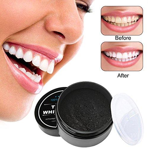 Vikeepro blanqueamiento dental  polvo de blanqueamiento de carbón activado natural  polvo de blanqueador dental de carbón activado  blanqueamiento de dientes 60g