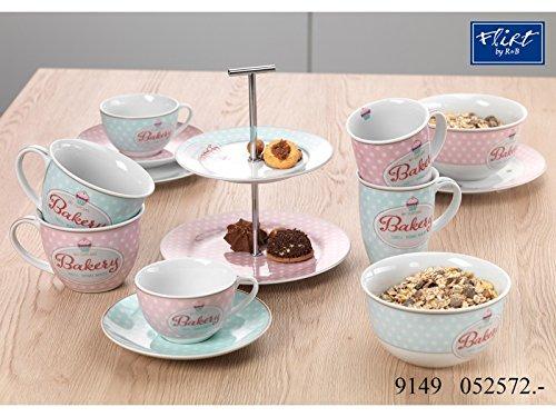 Kaffeebecher 320ml 2fach sortiert 6er Set Bakery - Flirt by R&B