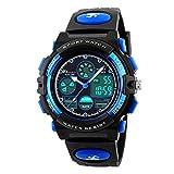 Unisex Kinder Digital Sportuhren, Jungen Wasserdicht Sportuhr mit Wecker Stoppuhr, analoge LED Armbanduhr mit Chronograph, Wecker für Jungen Mädchen