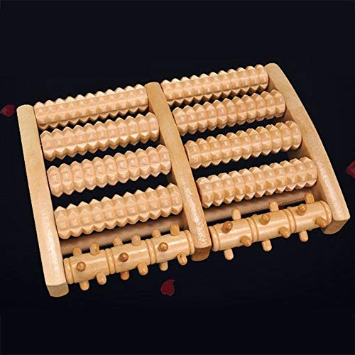 Yao Five-Row Sole Roller Massager with Wooden Nails Massage Tool
