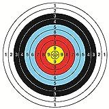 HuanXin-Full Ring Zielpapier Bogen und Pfeil Bogenschießen Ausrüstung Zielpapier Hochwertige Farbdruck Zielkarte 40 cm x 40 cm