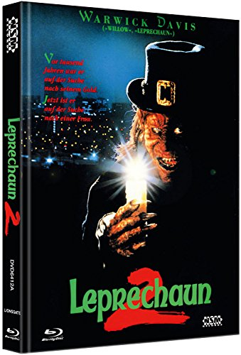 Leprechaun 2  [Blu-Ray+DVD] - uncut - auf 444 limitiertes Mediabook Cover A [Limited Collector's Edition] (Film Fehler Halloween 4)