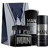 AVON MAN set, Eau de toilette/body spray/shampoo gel douche + sachet cadeau