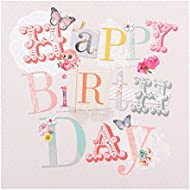 "Hallmark Birthday Card""With Love"" - Small Square"