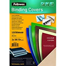 Fellowes 5135701 - Portadas para encuadernar de cartón extra rígido, A4, negro