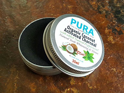 purar-35ml-fine-coconut-activated-charcoal-powder-with-peppermint-organic-teeth-whitening-detox