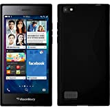 PhoneNatic Blackberry Leap Noir Coque S Style en silicone avec 2 films de protection