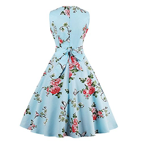 CharMma Damen Cocktail Kleid Azurblau