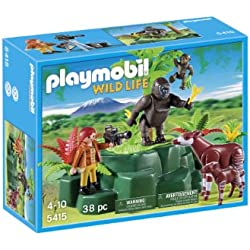 Playmobil Vida Salvaje - Gorilas y okapis con cámara (5415)