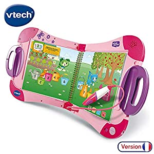 VTech - Sistema de Aprendizaje Interactivo, MagiBook, Color Rosa, versión Francesa
