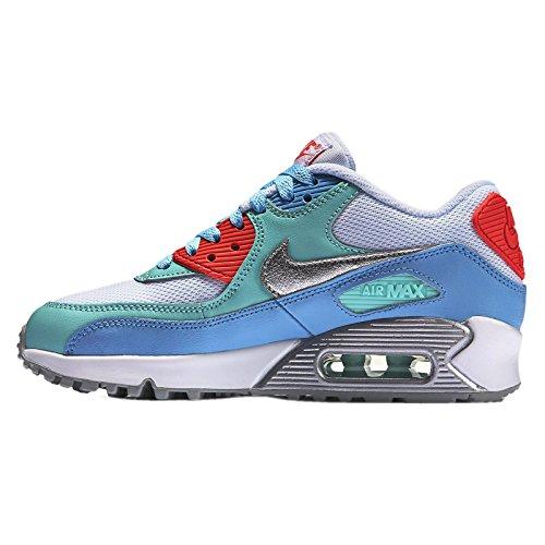 Nike Air Max 90Mesh (GS) Chaussures de sport pour enfants, jeunes filles Blanco - White Multi