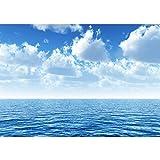 Vlies Fototapete PREMIUM PLUS Wand Foto Tapete Wand Bild Vliestapete - Ozean Meer Wasser See Welle Sturm Blau Türkis - no. 152, Größe:350x245cm Vlies
