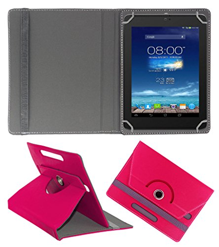 Acm Rotating 360° Leather Flip Case For Digiflip Pro Xt801 Tablet Cover Stand Dark Pink  available at amazon for Rs.159