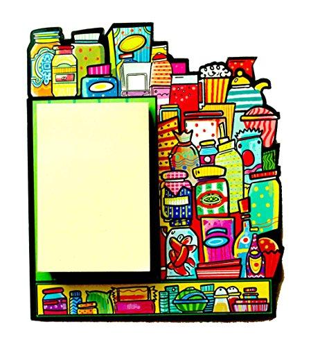 Home Blendz Jars design Fridge Magnet with Note pad