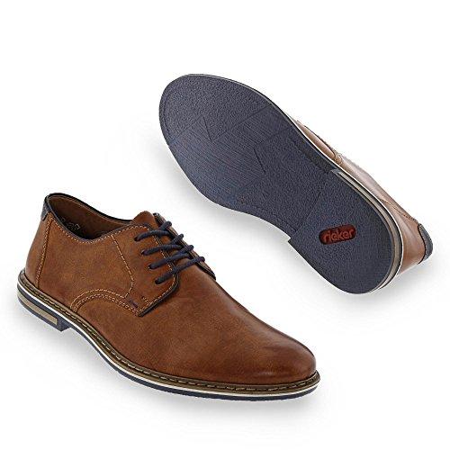 Rieker , Chaussures de ville à lacets pour homme cognac