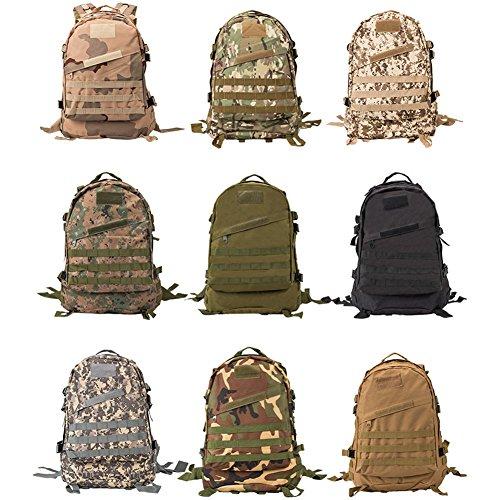Topteck Erwachsene Wasserdicht Trekking Outdoor Wanderrucksack Multifunktionale Trekkingrucksack für Wandern / Sport / Reisen - mit zusätzlicher Tasche Jungle Camouflage