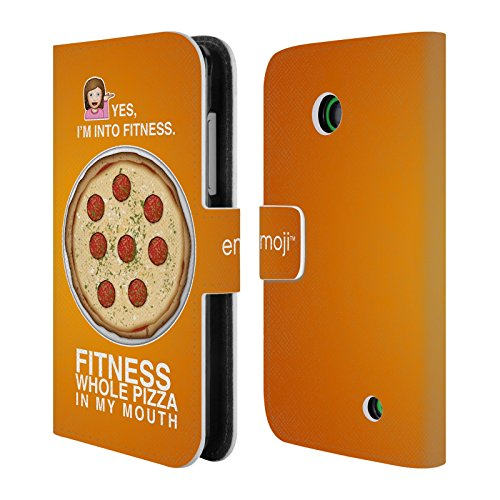 official-emoji-whole-pizza-food-leather-book-wallet-case-cover-for-nokia-lumia-630