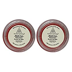 Khadi Pure Herbal Watermelon Lip Balm - 10g (Set of 2)
