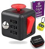 FabQuality Faites attention d'Anxiété Cube jouet avec eBook CAS BONUS inclus (Anglais) - soulage le stress et l'anxiété et vous détendre pour enfants et adultes