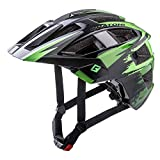 Cratoni Mountainbike Helm AllSet, Black-Green Matt, Gr. S-M (54-58 cm)