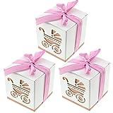 20bebé ducha Candy vagones cajas de regalo regalos en una fiesta con lazo rosa