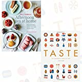 Afternoon Tea at Home and Taste 2 Books Bundle Collection - Deliciously indulgent recipes for sandwiches, savouries, scones, cakes and other fancies, The Infographic Book of Food