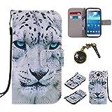 PU Galaxy S4 (GT-i9500 / i9505 LTE / i9502 Duos) Motif Imprimé Étui Housse en Cuir Ultra-mince Fermeture Aimantée Housse de Protection Coque pour Samsung Galaxy S4 (GT-i9500 / i9505 LTE / i9502 Duos) Étui Case Cover avec Stand Support (+Bouchons de poussière) (9EE)