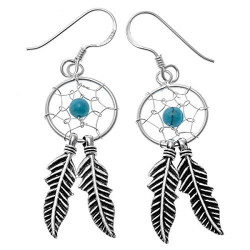loveangel joyas plata de ley 925Atrapasueños red disfraz drop Dangle Pendientes Regalo Para Las Mujeres