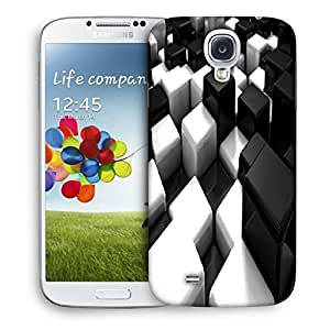 Snoogg Cubes On The Floor Printed Protective Phone Back Case Cover For Samsung S4 / S IIII