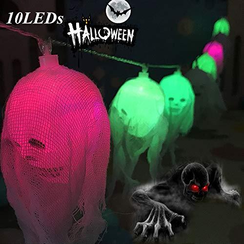 Halloween Lichterkette Weihnachten Decoratie 10 LEDs Licht Lichtketting Sfeer Schedel Lampen Verlichting Bonte Lampen Decoratie Batterie Perfect voor Halloween-decoratie