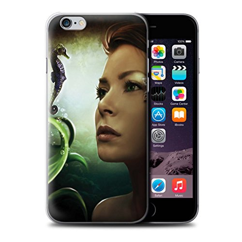 Tiefsee-grafik (Elena Dudina Offiziell Hülle/Case für Apple iPhone 6S / Tiefsee/Seepferdchen Muster/Agua de Vida Kollektion)