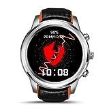 Kingprost-Fitness Smartwatch Fitness Armband Mit Pulsmesser Schrittzähler AktivitäTstracker SchrittzäHler KalorienzäHler GPS Anruf/ SMS Fitnessuhr Männer Armbanduhr Kompatibel Mit iPhone und Android (Schwarz)