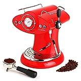 Klarstein Cascada Rossa • Espressomaschine • Kaffeemaschine • Milchaufschäumer • 1160 Watt • elektromagnetische Hochleistungspumpe • Pumpendruck 15bar • geeignet für Kaffeepulver und Pads • 6 Espressotassen • Cool-Touch • Temperaturanzeige • rot