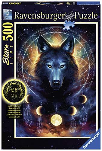 Ravensburger Erwachsenenpuzzle 13970 Ravensburger 13970-Leuchtender Wolf-Erwachsenenpuzzle