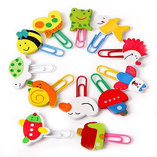 Tierklammern, 12 Stück bunte Formen verschiedene Kinder Kinder Clip Cartoon-Klammern Farbe
