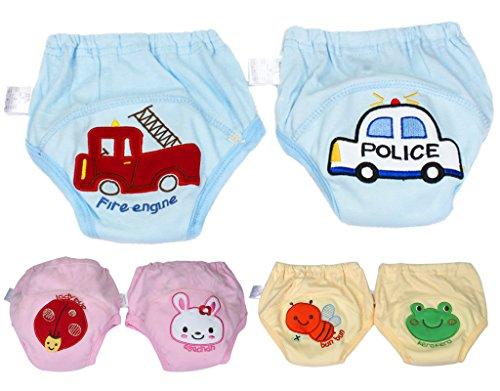 BONAMART 2 Stück Baby Junge Mädchen Kids Trainerhosen Unterwäsche 80 90 95 100 cm, 6 Einheiten Mehrfarbig, 90CM