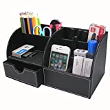 Best Desk Organizers - BTSKY Office Multi-functional Pu Leather Desk Organiser Tidy Review