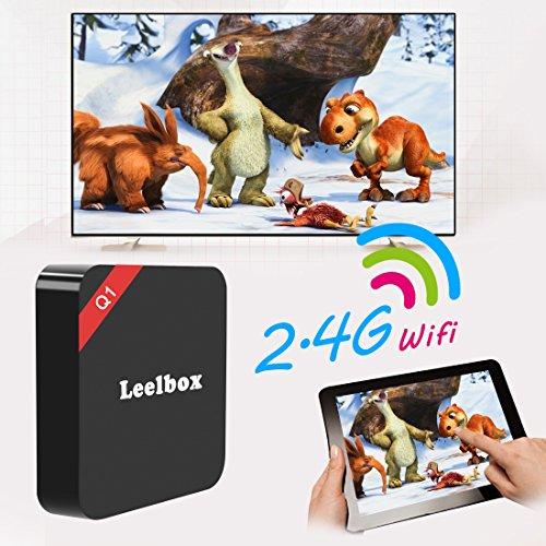 2016 Leelbox Android TV Box Neueste Modell Q1 Android TV BOX Kodi 16,1 Android 5.1 Vorinstallierte RK3229 Quad Core Miracast unterstuetzt 4K * 2K H.265 ,3D, 2.4G Wi-Fi LAN Media Player - 4