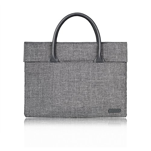 Arvok Schützend Laptop Sleeve mit Zubehörtasche und Stabiler Griff 15-15,4 Zoll Tasche Hülle Schutzhülle Laptoptasche Aktentasche Notebooktasche für MacBook Pro/Retina, Ultrabook/Netbook/Tablet