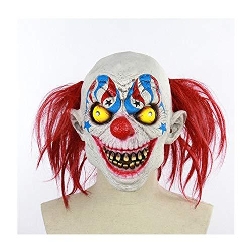 Halloween Zirkus Clown Maske Scary Horror Zombie Maske Kopfbedeckung Halloween Requisiten für Bar Maskerade Ornament