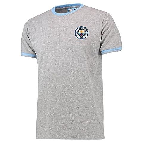 Manchester City Mens Gents Football Classic Pique T Shirt Tee
