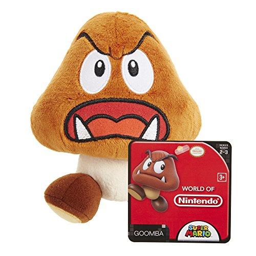 """Super Mario - Goomba Plush - 19cm 7.5"""""""