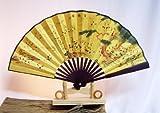 AAF Nommel ® Echter chinesischer Handfächer 032, Sommer Fächer auch sehr schön als Deko Fächer mit chinesischem Baum